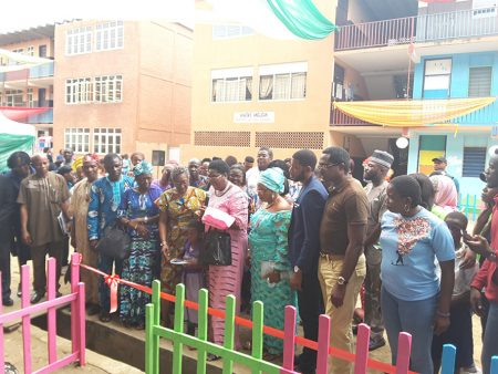 commissioning of the early childhood development centre in Adekunle Anglican Primary School Makoko
