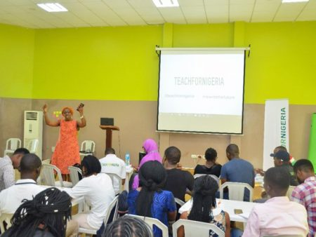 Mrs Ayida-Otobo during a training session for Teach For Nigeria Fellows